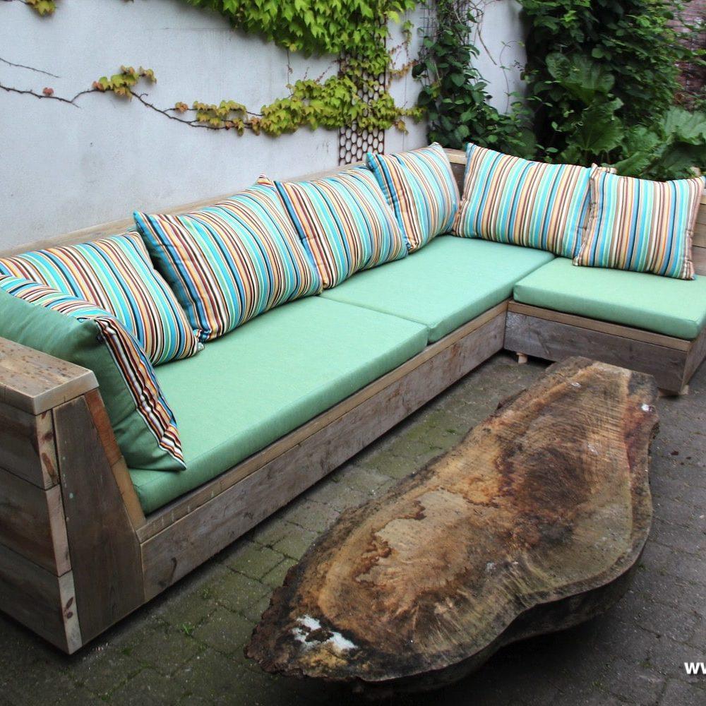 groene loungekussens op maat